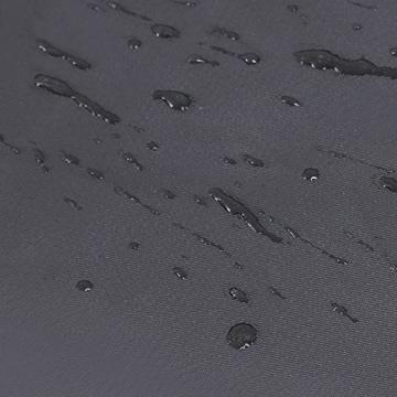 Der Polyester-Bezug des Songmics Feldbett ist wasserabweisend