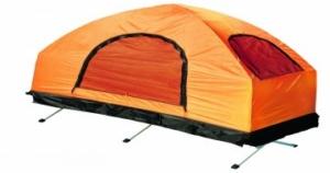 Beitragbild zum Beitrag: Feldbett mit Zelt
