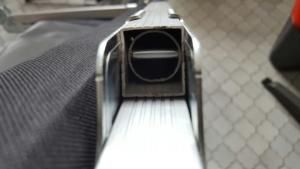 Aluminiumrohr im Detail 2 mit integ. Stahlrohr