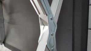 Gabellung des Kronenburg XXL Feldbett im Detail