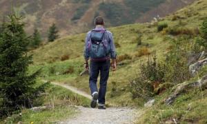 Ein Wanderer auf dem Weg