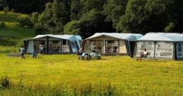 Camping bei gutem Wetter